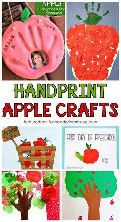 Fall Handprint and Fingerprint Apple Craft for Kids Decor Style Home Decor Style Decor Tips Maintenance home Preschool Apple Theme, Apple Activities, Autumn Activities For Kids, Fall Crafts For Kids, Diy For Kids, Kids Crafts, Baby Crafts, Creative Crafts, Daycare Crafts