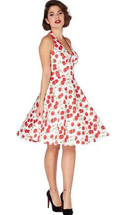 Voodoo Vixen Cherries Halter Dress | Blame Betty
