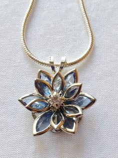Stained Glass Flower necklace