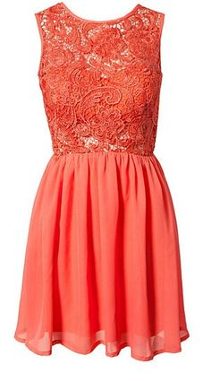LACE TO IMPRESS DRESS PEACHY CORAL