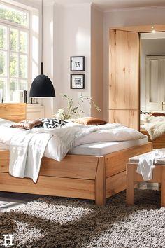 Alles aus Holz, aber niemals hölzern. 🌲 #meinhöffi   #höffner #hoeffner #wohnen #möbel #wohnraum #wohndesign #wohnidee Spare Room, Bed, Furniture, Home Decor, Pillows & Throws, Bedroom Ideas, Mattress, Timber Wood, Decoration Home