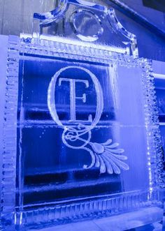 Custom ice sculpture with the couple's brand. Wedding by DFW Events. Photo by Edmonson Weddings. #wedding #icesculpture #monogram Invitation Paper, Invitations, Ice Sculpture Wedding, Ice Ice Baby, Wedding Vendors, Weddings, Ice Sculptures, Papers Co, Wedding Coordinator