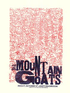 GigPosters.com - Mountain Goats, The