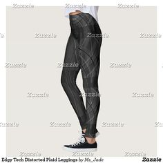 Guêtres de plaid tordues par technologie énervée leggings