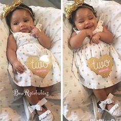 Happy 2 months gorgeous !!! #babies #babygirl #bourgiebabies #adorable #afrohair…