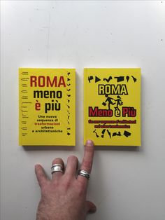 ROMA MENO È PIÙ design by BCP, published by Listlab #coverinspiration #bcpbcn