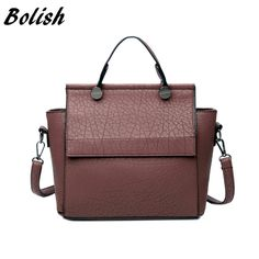 29.96 - Awesome Bolish Vintage Trapeze Tote Women Leather Handbags Ladies  Party Shoulder Bags Fashion Female 9a9744ba64f43