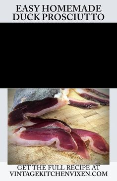 There's something satisfying about slicing up charcuterie knowing you cured it yourself. This easy duck prosciutto (duck ham) recipe will leave you wondering why you haven't made this before now. Duck Ham Recipe, Duck Recipes, Ham Recipes, Prosciutto Recipes, Charcuterie Recipes, Homemade Ham, Meat Appetizers, Survival Food, Mat