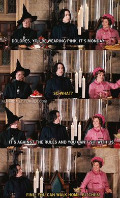 Love harry potter and mean girls together!!