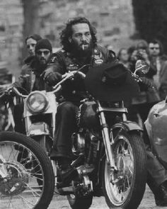 Sonny Barger a founding father of the Hells Angels motorcycle club.