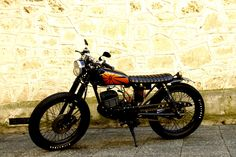 """""""Smokey"""" - Suzuki GP125 customised in a polished Brat style by Hand Made Vintage Kustoms in Perth, Western Australia.                          Like us on FB"""