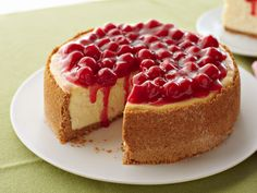 Our Best Cheesecake with cherries