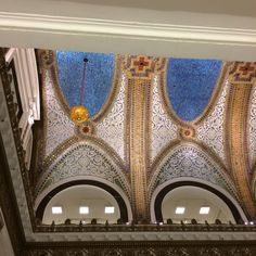 Tiffany ceiling at Macy's on State