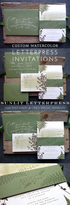 Watercolor wedding invitations and stationery by Sunlit Letterpress in Vancouver Canada. Check out the stationery we designed and printed for Allie and Dave, which included vintage floral illustrations and custom calligraphy. See how Sunlit Letterpress worked with this Canadian couple to design and print elegant and botanical stationery for their big day. Visit our blog at www.sunlit-letterpress.com/blog |  #letterpress #wedding #invitations #weddinginvitations #watercolor #botanical…