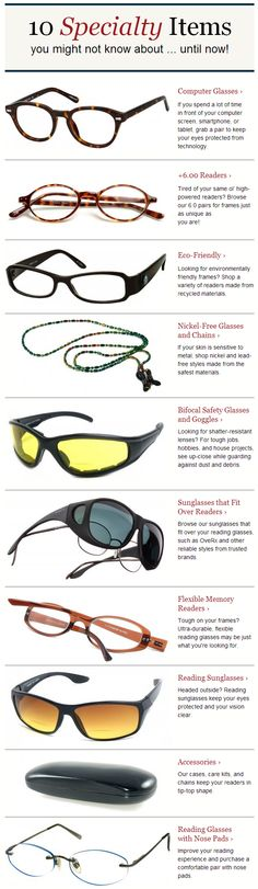 Specialty Reading Glasses for Men and Women. Check Out the Different Styles of Glasses at Readers.com.