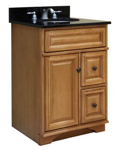 """Sunny Wood BW2421D Briarwood 24"""" Maple Wood Vanity Cabinet Only with 2 Drawers Briarwood Fixture Vanity Cabinet Wood"""