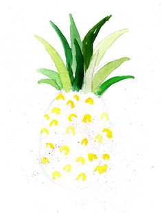Illustrationen, Illustration, Sommerobst, Summerfruits, Ananas, Graphicdesign
