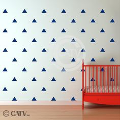Vinyl decal tribal triangle wall pattern decals (You Choose SIZE and COLOR) vinyl wall art stickers nursery decor Vinyl Wall Art, Vinyl Decals, Nursery Decor, Nursery Ideas, Room Ideas, Triangle Wall, Wall Patterns, Living Room Art, Bold Prints