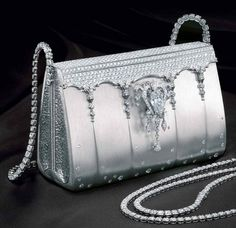 $1.9 million handbag crafted out of platinum and adorned with more than 2,000 diamonds, including an 8-carat diamond centerpiece.
