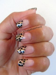 half animal manicure. cool nail art.