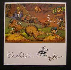 Ex Libris, Cartoons, Comics, Painting, Cartoon, Cartoon Movies, Painting Art, Paintings, Painted Canvas