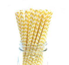 Yellow Chevron Zigzag Stripe Paper Drinking Straws 50ct by PrettySweetParty, http://www.amazon.com/dp/B00D53EI8O/ref=cm_sw_r_pi_dp_tOg1rb1MEDVGA