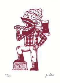 A beardy sugar skull illustration by MisNopalesArt on Etsy. Is this @Anna Willis's heaven?