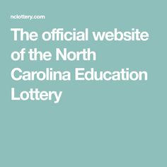 The official website of the North Carolina Education Lottery Mega Millions Jackpot, Tracy Williams, State Lottery, Winning Numbers, Corporate Social Responsibility, North Carolina, No Response, How To Make Money