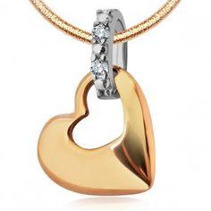 Złoty wisiorek z cyrkonią - #biżuteria Biżuteria srebrna dla każdego tania w sklepie internetowym Silvea