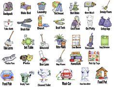 free printable chore clip art bing images chore chart rh pinterest com chores clip art printable free chore clip art