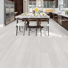 LifeProof Driftwood Beach in. L Luxury Vinyl Plank Flooring sq. / - The Home Depot LifeProof Driftwood Beach in. / case) - - The Home Depot White Vinyl Flooring, White Wood Floors, Luxury Vinyl Flooring, Luxury Vinyl Plank, Modern Flooring, Diy Flooring, Grey Wood, Flooring Ideas, Wood Vinyl