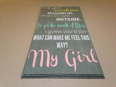 Extra Large I've Got Sunshine on a Cloudy Day wood sign, Nursery Room, Girl Room, child room decor