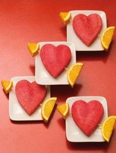Fruits cupidon pour la saint Valentin