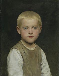 ALBERT ANKER 1831 - 1910 KNABENBILDNIS (DR HEIRI)