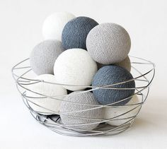 Soft Gray 20 Handmade Cotton Ball Patio Party String Lights – Fairy, Wedding, Holiday, Home Décor on Etsy, ฿333.00