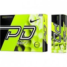 Balle de golf Nike power distance jaune
