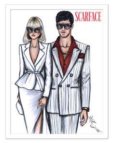Elvira Hancock & Tony Montana #SCARFACE by Hayden Williams