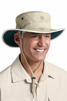 Coolibar zon beschermende zon hoeden voor heren van alle UPF 50 + voor een totale UV-stralen beschermen.