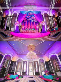New York City Indian Wedding at Waldorf Astoria, salon, mandap, garba www.alucinartefilms.com  Planner: Sonal J Shah Decor: Design House Decor Photo: @Claudette Montero Photographs