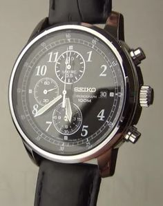 Men watches Seiko chronograph