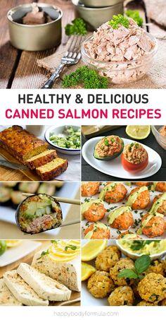 Healthy & Delicious Canned Salmon Recipes via Happbodyformula.com