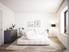 Minimalist Scandinavian Bedroom - For Small Rooms Master For Men For Women For Teen Girls For Couples DIY Boys Apartment Cozy Rustic Boho Vintage Modern Teenage Guest Cheap College Bohemian Cute On A Interior Design Bedroom, Scandinavian Design Bedroom, Small Rooms, Small Room Bedroom, Shabby Chic Bedrooms, Woman Bedroom, White Bedroom Design, Bedroom Design, Black White Bedrooms