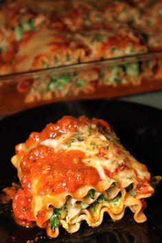 Turkey Spinach Lasagna Roll-ups