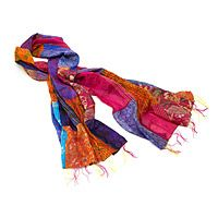 SILK PATCHWORK SARI SCARF UncommonGoods Best scarf ever!