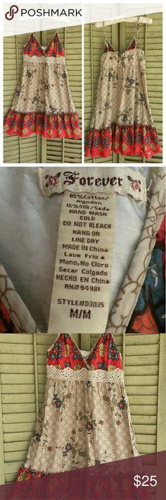 Forever Sun Dress Cotton dress Forever 21 Dresses Mini