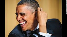 """Few were spared from President Barack Obama's zingers at Saturday's White House Correspondents' Dinner. Obama joked about his appearance after so many years in office — """"These days I look in the mirror and I gotta admit: I'm not the strapping young Muslim socialist that I used to be,"""" he said. He also addressed the recent tragedies in Boston and West, Texas, as well as the flooding that's afflicted some in the Midwest. Attendees included both press and stars from across entertainment. (via…"""