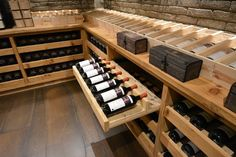Wine Furniture, Home Wine Cellars, Wine Cellar Design, Wine Rack, Man Cave, Decoration, Backyard, Interior Design, Caves