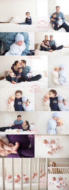 seattle newborn photographer, twins lifestyle session
