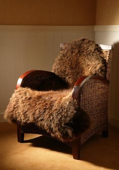 Natural Brown Sheepskin Rug from SkyeSkyns Scotland; I have four of these already - and they're the best :) furrugs.com