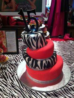 Topsy Turvy Sweet 15 Cake
